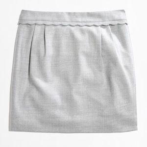 J. Crew Scalloped Trim Mini Skirt